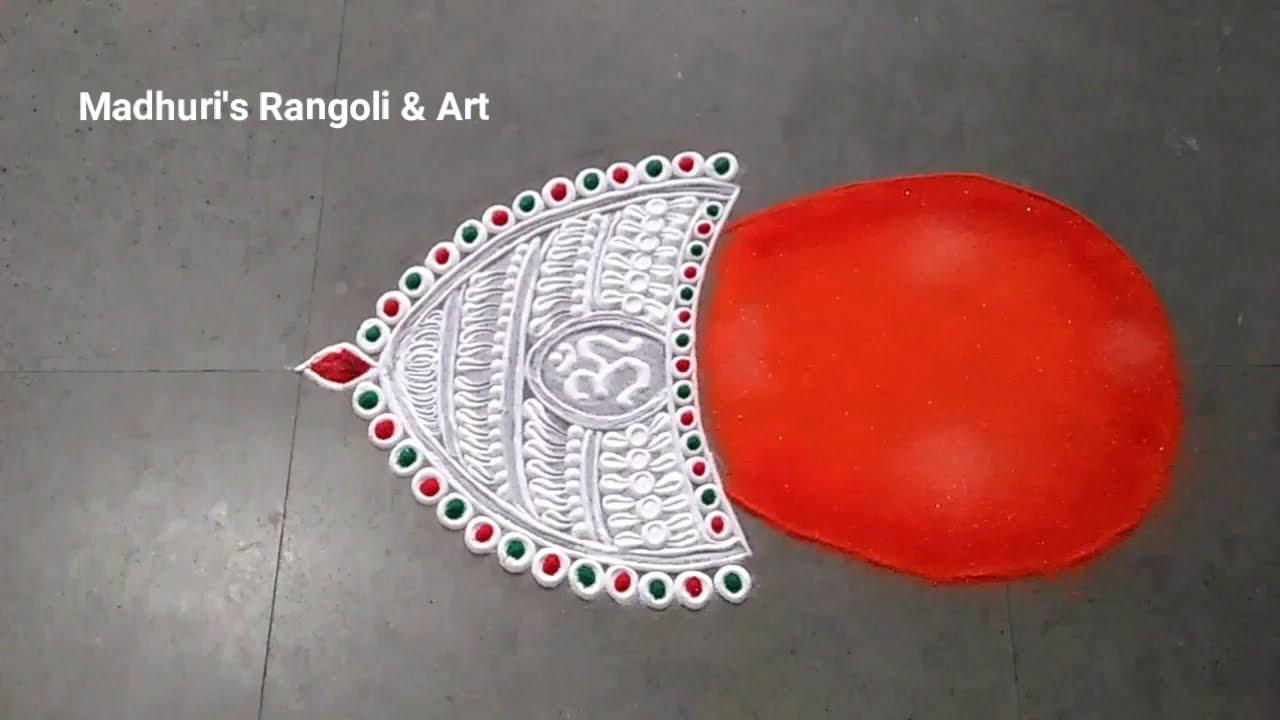 portrait rangoli design for pooja mohatadevi goddess by madhur