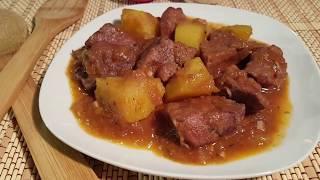 Carne en salsa con papas - Fácil y muy rico || cocina con rock