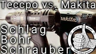 Makita vs Teccpo, 18 Volt Akku Schlagbohrschrauber Test im Vergleich - Bürstenloser Akkuschrauber
