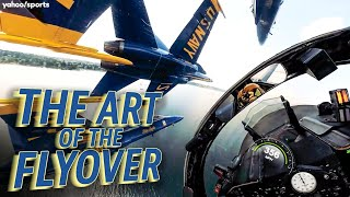 The Art Of The Flyover: U.S. Navy Blue Angels At The Super Bowl