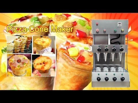 Pizza cone maker | How to Make Pizza Cones | Pizza cone oven machine