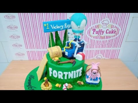 Fortnite Birthday Cake, Topper Cake, Decorations - Howto & Style