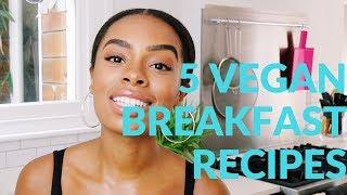 5 VEGAN BREAKFAST RECIPES | 3 Ingredient Vegan Pancake Gluten Free