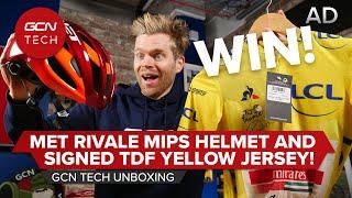 MET Rivale MIPS Helmet & Signed Tadej Pogačar TDF 2020 Yellow Jersey! | GCN Tech Unboxing