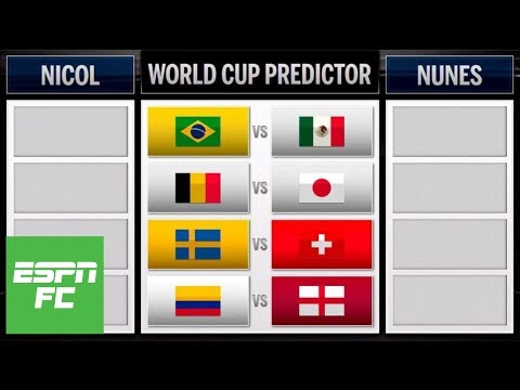 Predicting Mexico vs. Brazil, England vs. Colombia and rest of World Cup round of 16 | ESPN FC