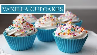 BIRTHDAY CUPCAKES | Easy Vanilla Cupcakes With Buttercream Frosting