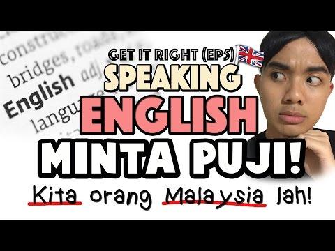 GET IT RIGHT (Ep5)   Speak English is Minta Puji!   AdamShamil