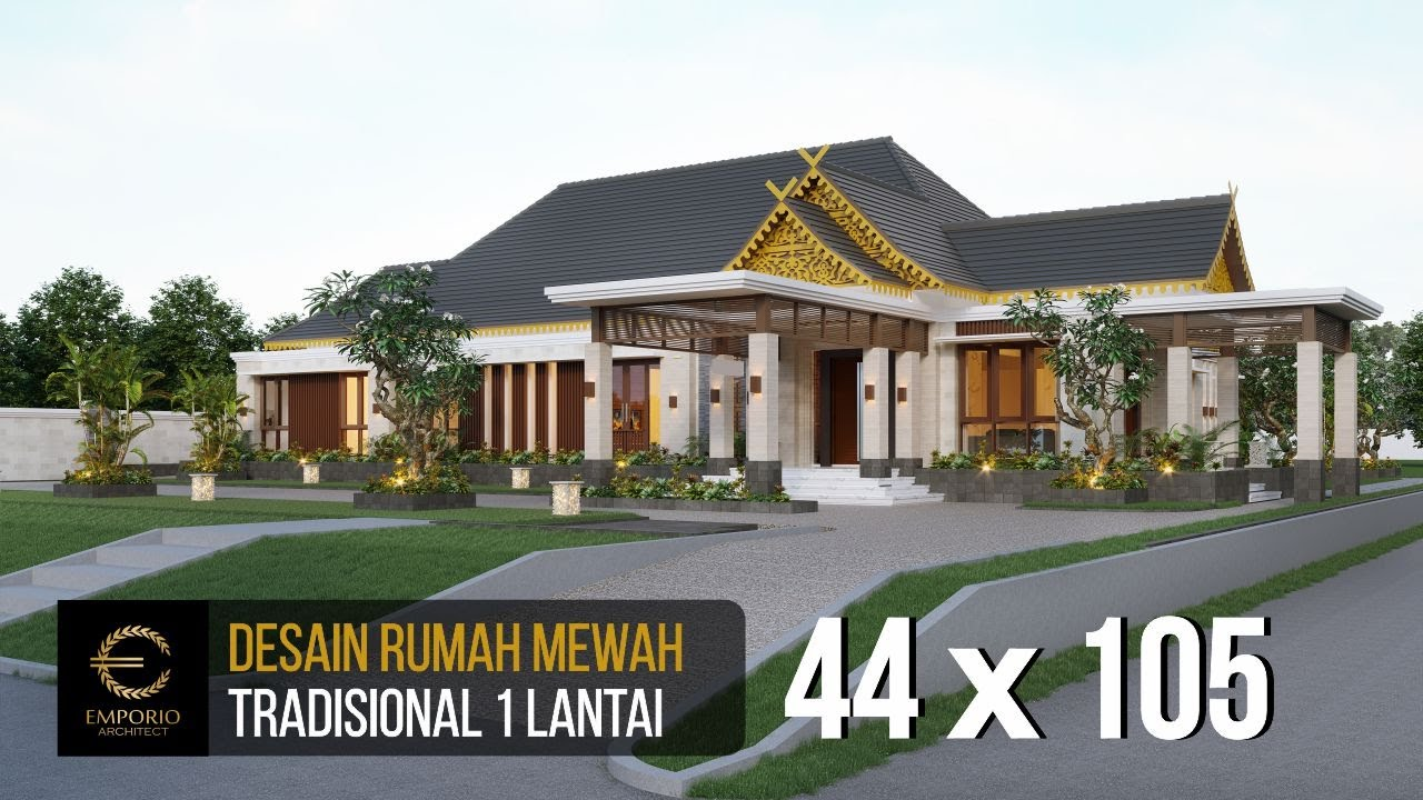 Video 3D Mrs. Mila Traditional House 1 Floor Design - Jambi