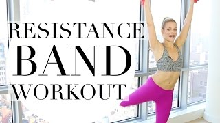 SHORT FULL BODY WORKOUT WITH RESISTANCE BAND   TRACY CAMPOLI   RESISTANCE BAND WORKOUT FOR WOMEN by Tracy Campoli