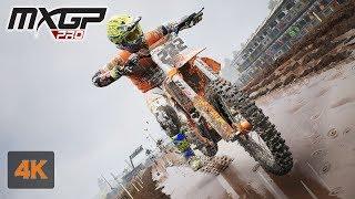 MXGP PRO 4K Gameplay RAIN Onboard Race at Kegums Latvia - Evgeny Bobryshev - Stage # 3