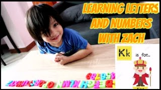 LEARNING LETTERS AND NUMBERS WITH MY 3 YEAR OLD SON