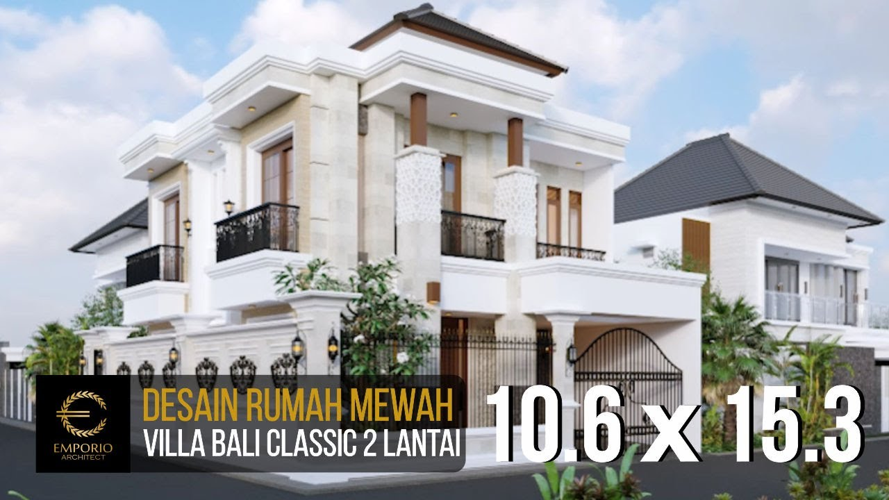 Video 3D Mr. Toni Villa Bali Classic House 2 Floors Design - Batam