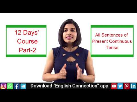 English Sentence Making Course Day 2   Present Continuous ...