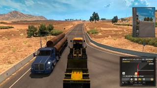 Трактор Digger1000 весом 34000 фунтов перевозим из Пиоче в Санта Круз #21 - American Truck Simulator