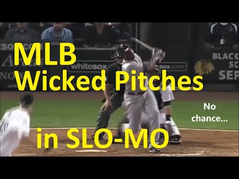 16 WICKED MLB PITCHES in SLOW MOTION - Major League Baseball MLB Super Nasty Pitchers