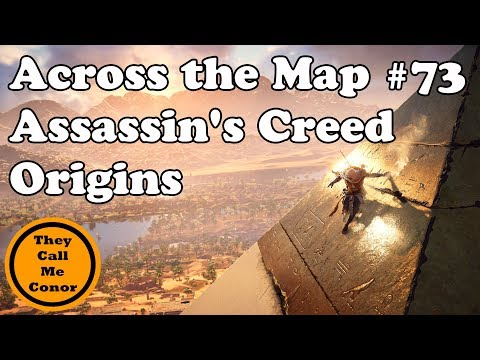 Across the Map #73 Assassins Creed Origins walk across the Map TimeLapse Video