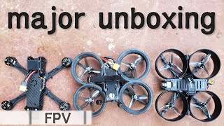 2 DJI-supported FPV Drones Unboxing - Holybro Kopis Cinewhoop & Echo Quad Freestyle Custom Build