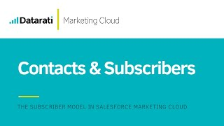 Difference between Contacts and Subscribers in Salesforce Marketing Cloud