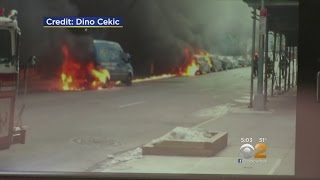 Mechanical Problem Sparks Car Fires In Manhattan