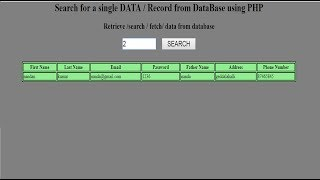 How to retrieve a single data/record from database using php mysql