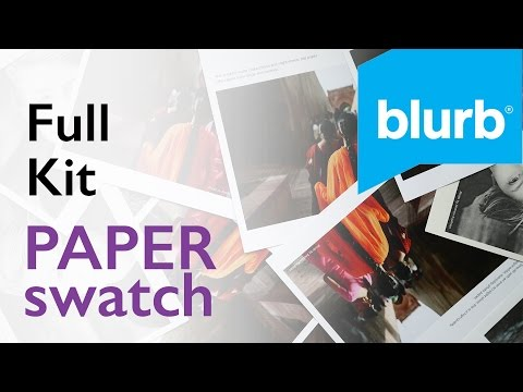 Blurb Full Paper Swatch Kit Walkthrough