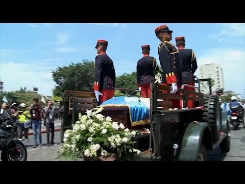 Guatemala despide al ex presidente Arzú, firmante de los Acuerdos de Paz