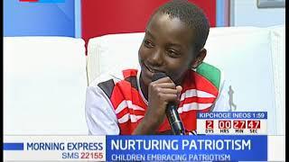 Children using their voices to express their patriotism