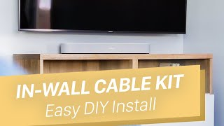 How To Hide Wires For Wall Mounted TV - In Wall Cable Kit