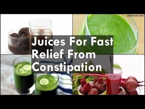 Video Juices For Fast Relief From Constipation