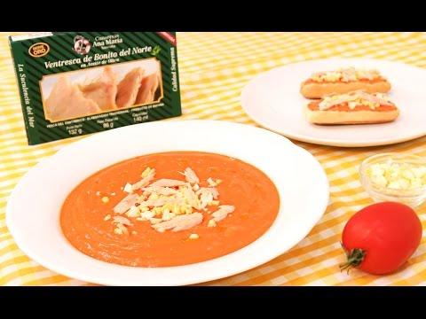 C mo preparar salmorejo cordob s muy f cil y r pido for Youtube cocina para todos