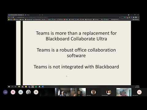 Using Microsoft Teams for Online Classes (June 2021)