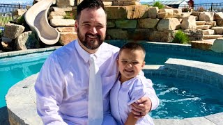 CODY GETS BAPTIZED! In a POOL