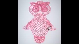 Sowa Na Szydełku, Serwetka Na Szydełku Part2/3 - Crochet Owl, Crochet Doily