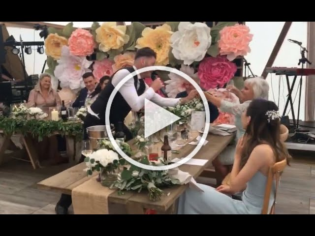 Your Song opening – surprise for the bride and groom