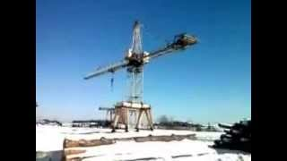 Crane accident while on the job LEVEL RUSSIA ! Wypadek Dzwigu podczas pracy