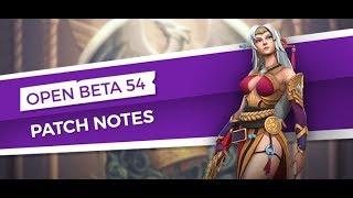 Open Beta 54 Patch Notes
