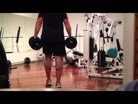 Dumbbell Farmer Walk on Toes