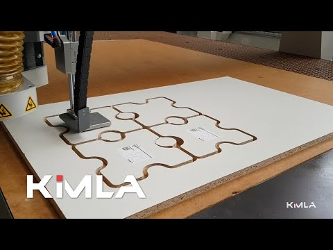 Printing and sticking labels on industrial router
