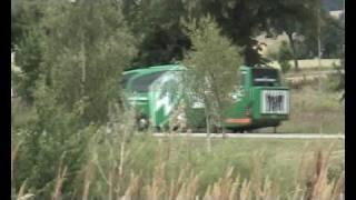 Werder Bremen Bus in Rostock-Laage