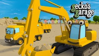 Digger Song For Kids | Gecko's Garage | Truck Songs For Children