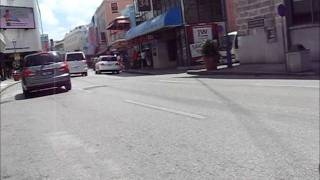 preview picture of video 'Barbados Bicycle cam # 39 [Bridgetown - Baxters Rd]'