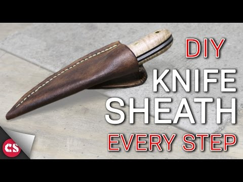 Making A Leather Sheath - EVERY STEP! Mp3