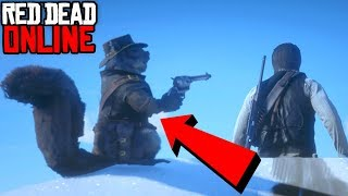 Red Dead Redemption 2 ONLINE Funny Moments #4 SQUIRREL