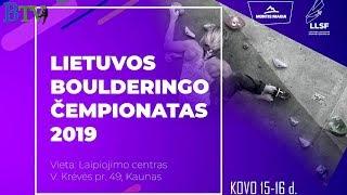 Lithuanian Bouldering Championship 2019 - Finals
