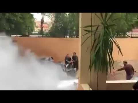 محاوله اغتيال اسامة حماد بتفجير سيارة