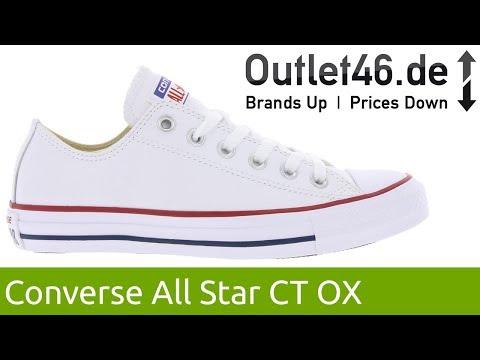 Converse Chuck Taylor Leather OX Weiß l Der Klassiker aus Leder l 360° Video l Outlet46.de