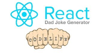 Create-React-App webapp tutorial using React JS Library to create a dad joke generator