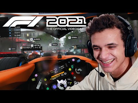 Lando Norris Plays F1 2021 For The First Time!
