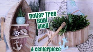 DOLLAR TREE DIY Nautical Boat Shelf | Beach Decor