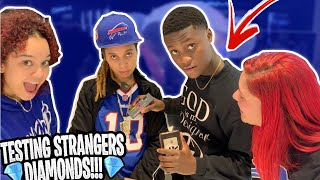 TESTING STRANGERS DIAMONDS😱💎FT. FREDO BANG MIAMI MALL EDITION | *NEW PUBLIC INTERVIEW*